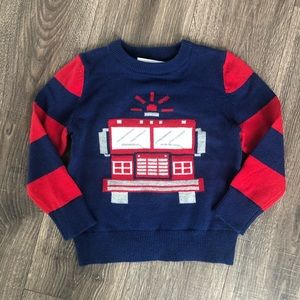 Baby Gap fire truck sweater size 5 new with tags